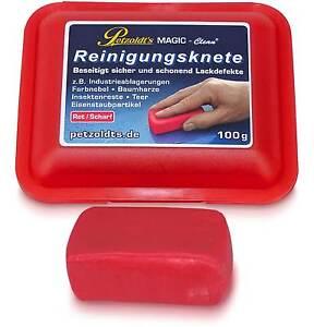 Petzoldts MAGIC-Clean Reinigungsknete, Rot, Scharf, 100g, Lackknete, Clay Bar