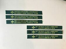 24th WSJ North America 2019 (3) & UK IST GREEN NAME TAPES (3) set (total 6)