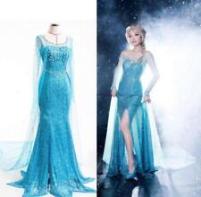 2018 Frozen Elsa Fancy Dress Party Costume Blue Adult Ladies Halloween AU 6-14