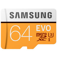 Samsung EVO 64GB Micro SD SDXC Memory Card Class 10 UHS-I 100MB/s for Smartphone