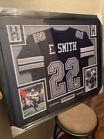 Emmitt Smith Authentic Autographed Framed Jersey Beckett COA Cowboys NFL