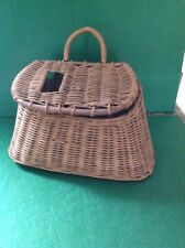 Antique Vintage Fresh Water Basket Weave Fishing Creel