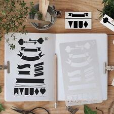 20 Pcs Bullet Journal Stencil Set Plastic Planner DIY Drawing Template Diary _k