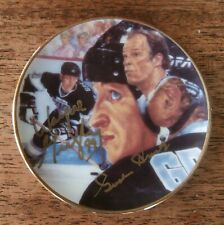 "Gartlan ""The Great One"" 99 Mini Plate Signed By Gordie Howe & Wayne Gretzky"