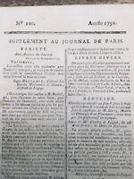 Dixmont en 1791 Joigny Yonne Docteur Dorez Cancer du Sein Reubel Juigné Arnoult