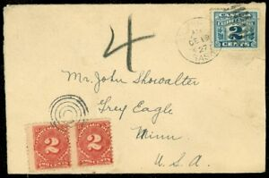 EDW1949SELL : CANADA Terrific usage of Excise Stamp Used on 1927 cover to USA