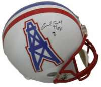 Earl Campbell Autographed Houston Oilers Full Size Replica Helmet HOF JSA 10774