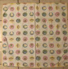 "Bonbonbini Flannel Pastel Animal Plaid Baby Blanket 42""x40"" VGUC"