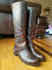 UGG Australia Channing II Brown Leather Knee High Riding Boots 1001637 Size 6