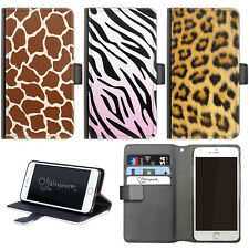 HAIRYWORM ANIMAL PRINT LEATHER WALLET FLIP PHONE CASE FOR APPLE LG GOOGLE SONY