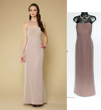 MONSOON Nude Becca Bridal Dress Pleated Integral Bodice UK 12 EU 40 rrp £179