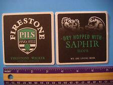 Beer COASTER ~ FIRESTONE WALKER Brewing Co Pivo Hoppy Pils = Pilsner; CALIFORNIA