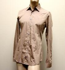 $510 NEW Authentic GUCCI Men's Cotton/Silk Dress Shirt 43/17 Slim,269067 2464