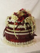 Big 2 Tier Wedding Cake Burgundy Wedding Card / Reception Box $ Wishing Well Box