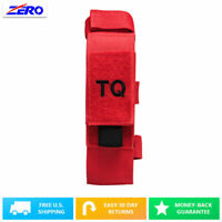 Red Tourniquet Trauma Shear Pouch MOLLE TQ Belt Straps CAT First Aid Holder