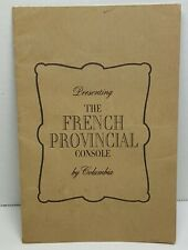 Presenting French Provencial Console Colombia Pamphlet Ephemera
