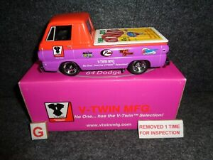 1964 Dodge A100 Pick-Up Truck 1:25 V-TWIN Motorcycle's TEDD CYCLE Harley Liberty