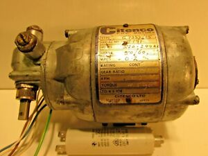 CITENCO ELECTRIC MOTOR WITH GEARBOX GIVING 19 RPM IT IS  250 VOLT AC