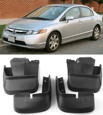 OE Front Rear 4Pcs Fender Splash Mud Guards Flaps For 2006-2011 Honda Civic 4D