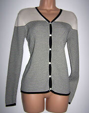 BNWT Laura Ashley vintage, cotton ribbed, striped, all seasons cardigan Medium
