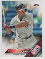 2016 Topps Mini Baseball New York Yankees Team Set (27 cards)
