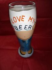 Beer Belly by Lolita Pilsner Glass, Hand Painted, Collectible, Novelty