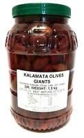 Griechische Kalamata Oliven - Giants eingelegt in Salzlake und Essig 1500g