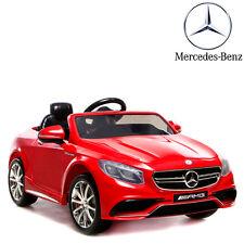 voiture électrique enfant bébé 4X4 rouge Mercedes S63 Luxe 12 Volts télécommande