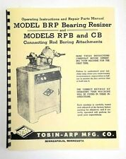 Tobin Arp Model BRP, RPB, and CB Manual