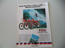 advertising Pubblicità 1980 MOTO FANTIC TRIAL 50/125/200 PROFESSIONAL