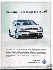 Publicité Advertising 2002 VW Volkswagen Golf Match