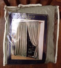 "Rodeo Home Striped Sage Green Window Panel Curtain 2 Panels 54"" W x 90"" L"