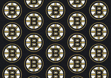 "2x8 Milliken Boston Bruins 1022 Sports NHL Repeat Area Rug - Approx 2'1""x7'8"""
