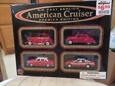 American Cruiser Premier Edition Fire Department 4 Car Set 1:64 Scale MIB
