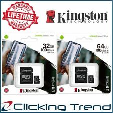 Micro SD 32gb 64gb Kingston Class10 Memory Card Phone Canvas Select Plus 100Mb/s