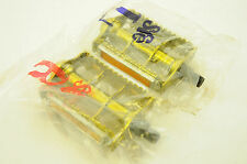 "SFE GOLD RAT TRAP 1/2"" PEDALS OLD SCHOOL BMX 80's MADE MONGOOSE HARO GT NOS LAST"