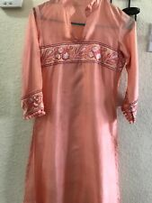 Pakistani Indian Embroidery Stitched Salwar Kameez 2 Pieces Silk