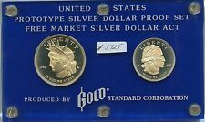 Prototype Silver Dollar Proof Set (#3725) Gold Standard Corp. 1982 $1 and 1/2 Do