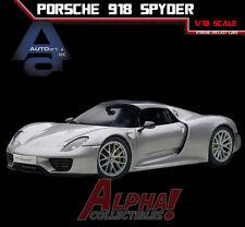 AUTOART 77925 1:18 PORSCHE 918 SPYDER WEISSACH PACKAGE GT METALLIC SILVER