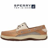 Men's Sperry Top-Sider Billfish 3-Eye Boat Shoes Tan Beige Leather All SZ NIB
