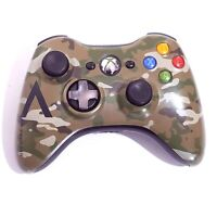 Official Microsoft Xbox 360 Camo Camouflage Halo Wireless Controller OEM Genuine