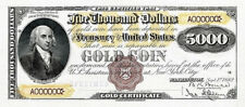 Relyca 5,000 5.000 5000 gold coin 1882 BEP the United States of America