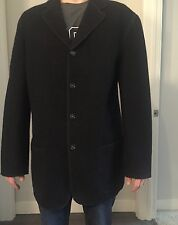 D&G Dolce & Gabbana Black Buckle Wool Men's Casual Blazer Size 36/50 Italian