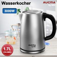 1,7L Edelstahl Wasserkocher 3000W Wasserkocher Kabellos Kalkfilter Teekocher