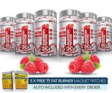 X6 puro Cetonas de Frambuesa-adelgazar más fuerte/dieta & Quemador De Grasa + Píldoras Detox