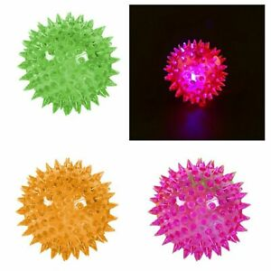 FLASHING LIGHT UP BALL Spikey Ball Bouncing Sensory Autism Yoga Balls Spike Ball