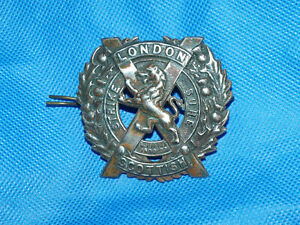 Military Army Cap Badge with Lugs - The London Scottish Regiment