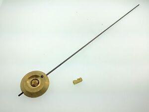 "French Clock Pendulum Brass Bob 1 3/8"" Diameter and 2.4 oz.weight"