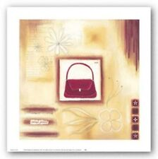 Red Vintage Purse Lucy Barnard Art Print 10x10
