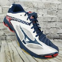Mizuno Women's Wave Lightning Z3 Athletic Sneaker Shoes Size 9  White Blue Red